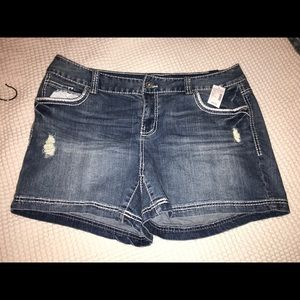 New Maurice's size 18 denim shorts